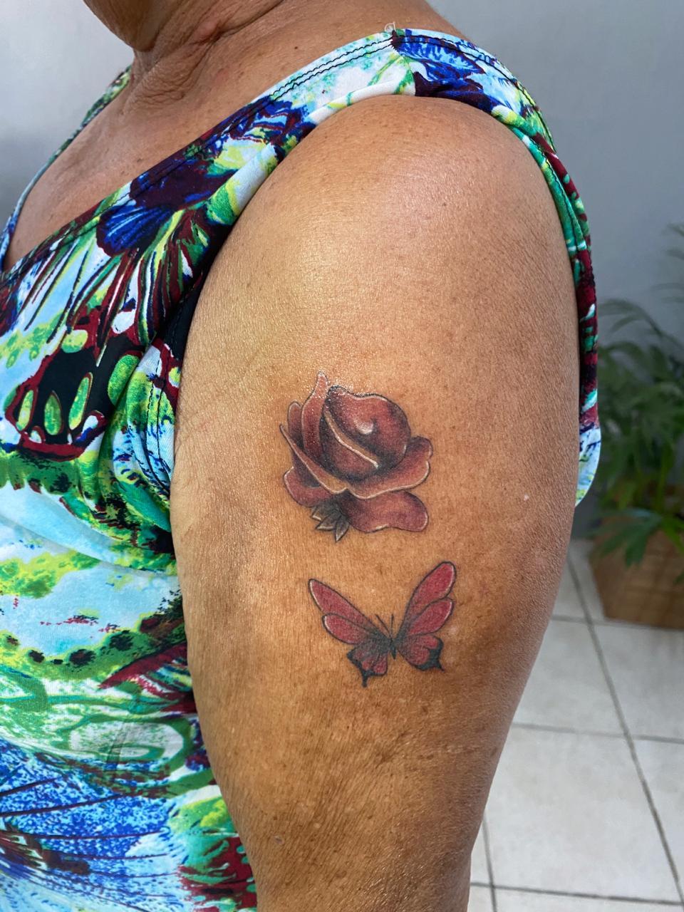 tatuagem idosos Maria das Graças