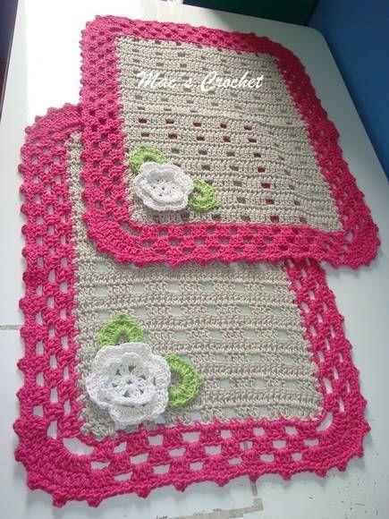 flor de croche para aplicação em tapete
