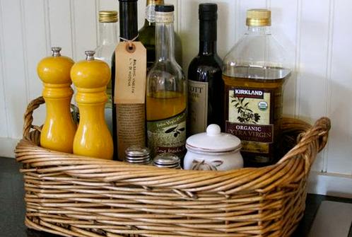 cestas para organizar a cozinha