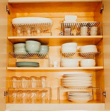 como organizar a cozinha prateleiras